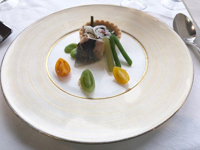 名鉄グランドホテルアイリスのランチ「前菜」
