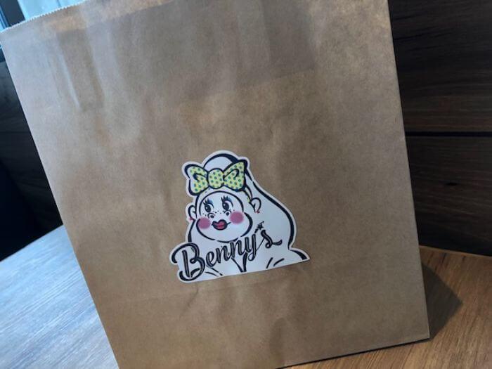 ハナサキマルシェのベニーズの紙袋