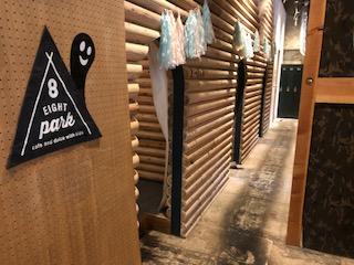 エイトパークカフェ犬山店は木のお部屋がたくさん